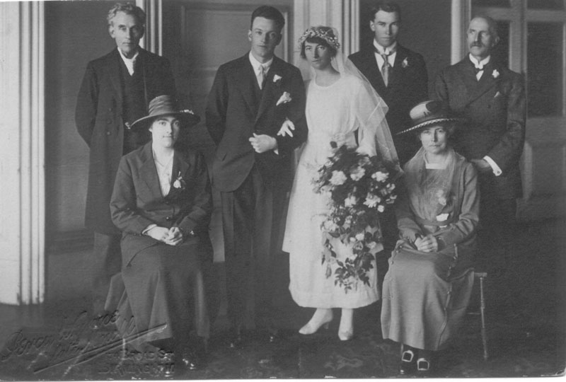 Wedding of Ernest Reade-Hill and Margaret Houliston